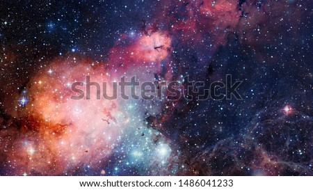 High definition star field, colorful night sky space. Nebula and galaxies in space. Astronomy concept background. Elements of this image furnished by NASA #1486041233