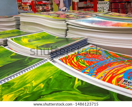 Sketch Notebook, Drawing, Notebook for the education of the students. Education of children and develop art skills. Notebooks on sale at the market. #1486123715