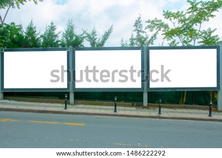 Empty / blank outdoor advertising billboards in the street