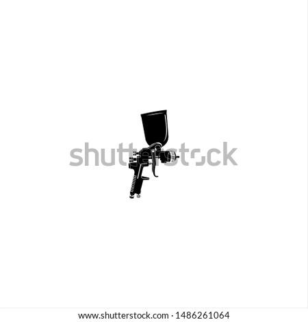 Flat and Modern Black Auto Sprayer Logo Design Concept