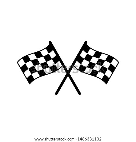 Start icon. Race flag icon. Competition sport flag line vector icon. Racing flag. Start finish. vector illustration #1486331102