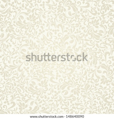Seamless background baroque style beige color. Vintage luxury Pattern. Retro Victorian. Ornament Damascus style. Elements of flowers, leaves. Vector illustration. Wallpaper, print packaging, textiles.