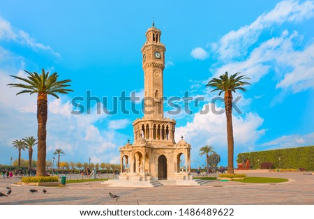 Izmir clock tower. The famous clock tower became the symbol of Izmir #1486489622