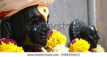 closeup face of lord vithal #1486656611