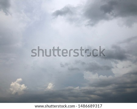 Atmosphere of overcast  sky before to rainy Royalty-Free Stock Photo #1486689317