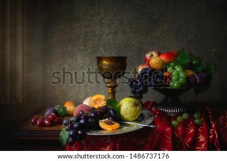 Fruit still life in Baroque style