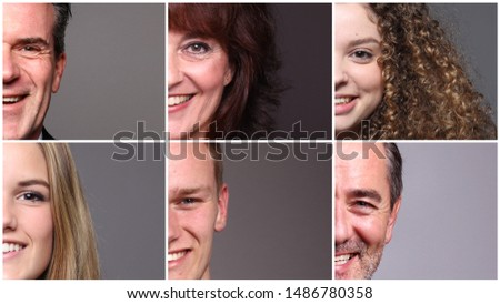 Beautiful commercial people in front of a grey background #1486780358