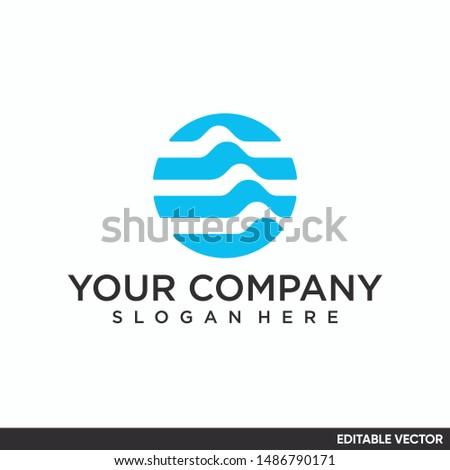 circle wave elegant and modern logo #1486790171
