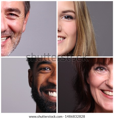 Beautiful commercial people in front of a grey background #1486832828
