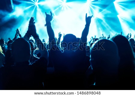 crowd of people at concert #1486898048
