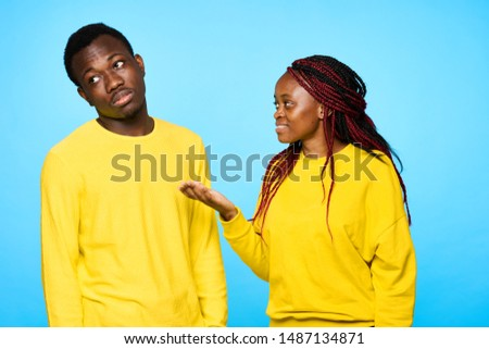 Man and woman of African appearance communication and friendship friendship friendship #1487134871