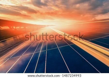 Alternative energy To conserve the world's energy (Solar panels in the sky) #1487234993