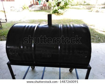 Charcoal grill, metal material reused #1487260091