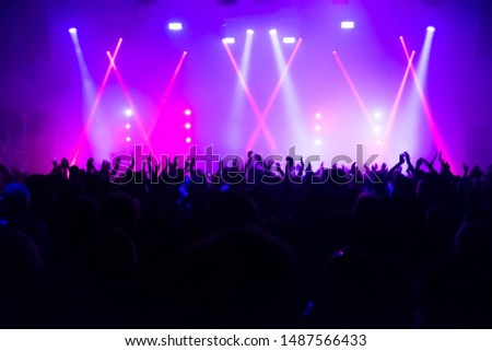 crowd of people at concert #1487566433