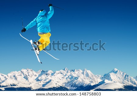 Skier in high mountains #148758803