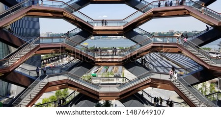 The Vessel at Hudson Yards  Royalty-Free Stock Photo #1487649107