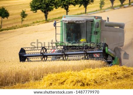 Farmland Machine farming tractor harvest #1487779970