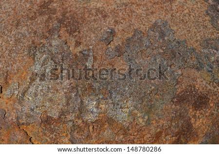 Metal Background, iron sheet, rusted pattern #148780286