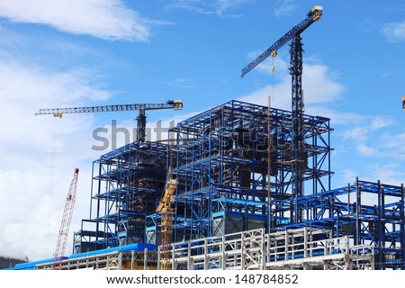 Power Plant Construction Royalty-Free Stock Photo #148784852