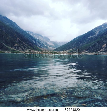 nature shows its awesome colors in this beautiful picture. A picture of Saif ul malook jheel, Pakistan.