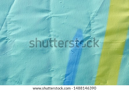 Close up of azure abstract acrylic painting texture - painted canvas for background #1488146390