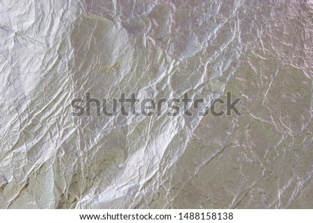 Aluminum foil crumpled texture as background #1488158138