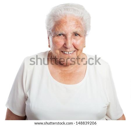 elder women front on a white background #148839206