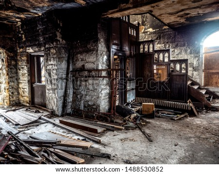 Kansas City, Missouri / America - March 23 2019 : Abandoned Church in Kansas City #1488530852