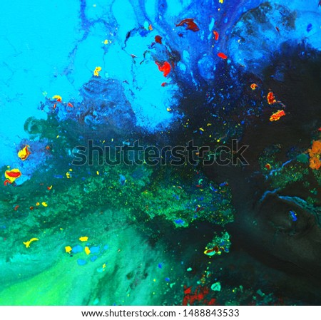 Hand draw oil painting colorful natural luxury. Abstract background.Marbleized effect.  #1488843533