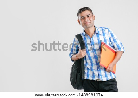 College Boy holding with file in hand  #1488981074