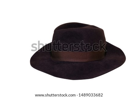 brown hat on a white background #1489033682