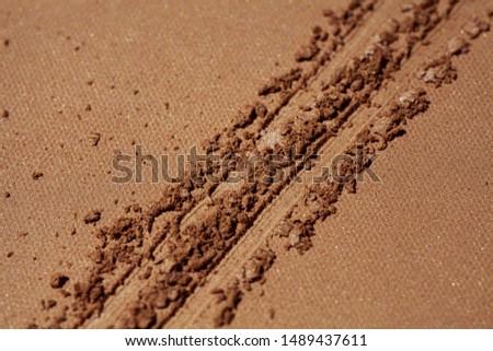 Blusher or bronzer palette texture pressed background #1489437611