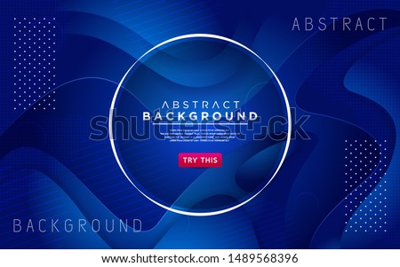 Dynamic blue 3D textured style background design. Modern abstract vector background. #1489568396