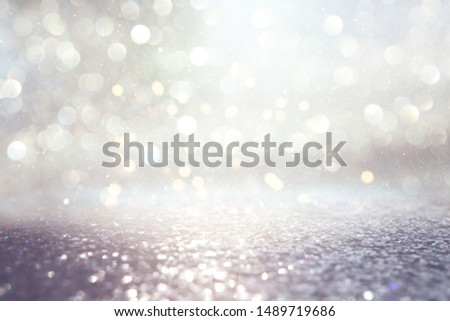 background of abstract glitter lights. silver and gold. de-focused #1489719686