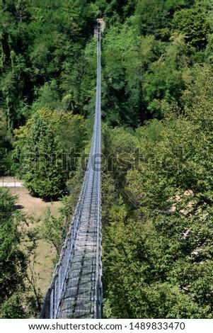 The Suspension Bridge of San Marcello Piteglio  #1489833470