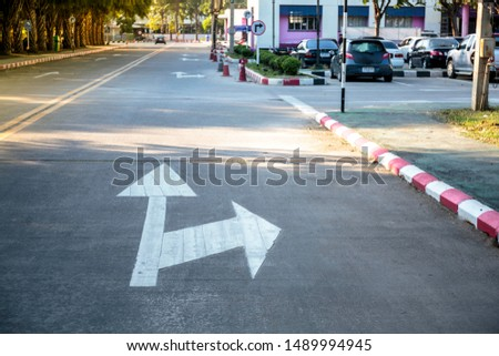 Traffic Signs turn forward,turn left and turn right #1489994945