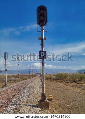 landscape, sky, railway, railway signals, signal, nature #1490214800