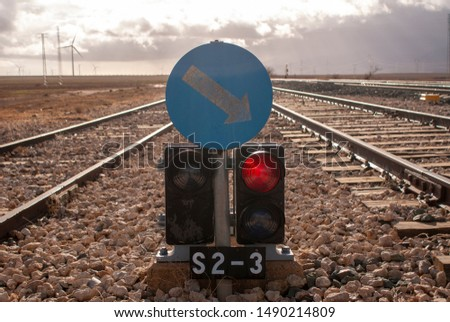 landscape, sky, railway, railway signals, signal, nature #1490214809
