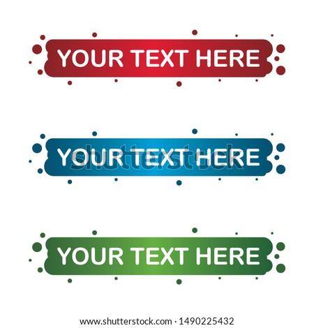 banner set, text box, title box, speech text, speech title, frame text, frame title, text border, title border #1490225432