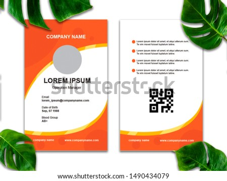 ID Card templates in a modern style #1490434079