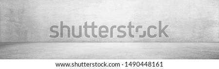 plaster or cement floor and wall backgrounds, gray room, interior texture for display products. wall background. #1490448161