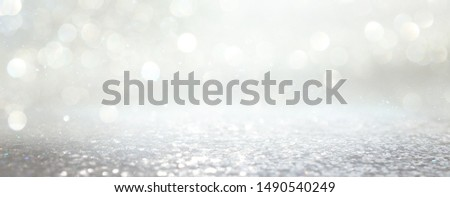background of abstract glitter lights. silver and gold. de-focused. banner #1490540249
