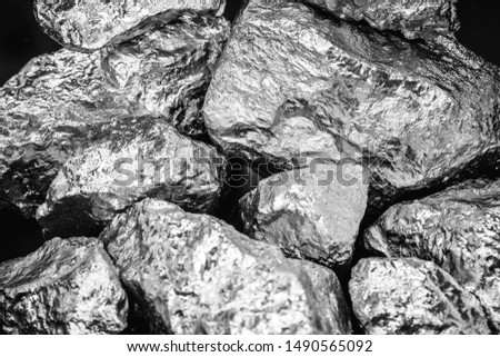 Palladium is a chemical element which at room temperature contracts in the solid state. Metal used in industry. Mineral extraction concept. #1490565092