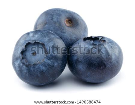 Fresh blueberries isolated on white background #1490588474