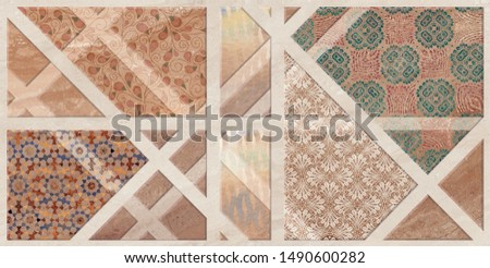colorful digital wall tiles design for bathroom and kitchen #1490600282