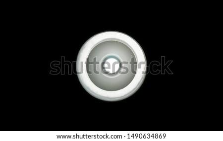 Round Light bulb in the dark #1490634869