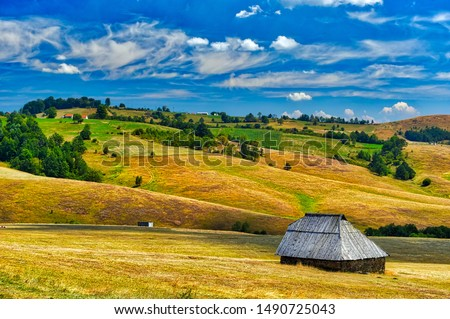 Farm house in the field, Zlatibor, Serbia #1490725043