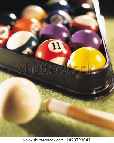 Cue balls or billiard balls close up #1490793047
