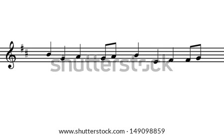 music notes with a simple melody