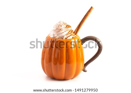 Pumpkin Spice Latte Isolated on a White Background